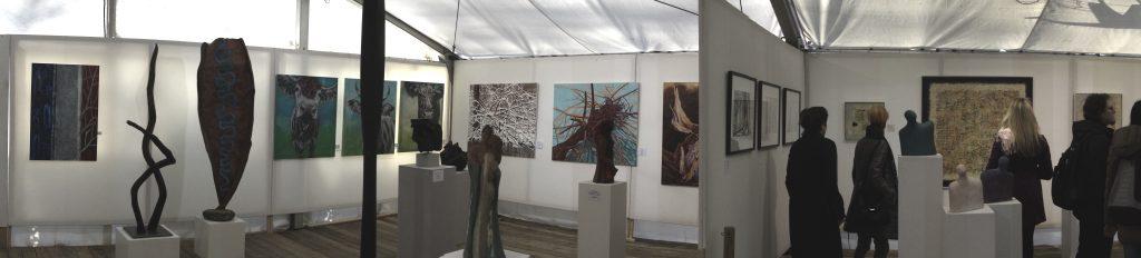 Kunstzelt Ausstellung Schwabinger Weihnachtsmarkt